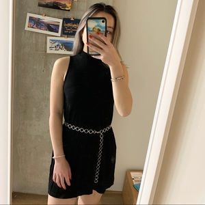 Black mock-neck topshop dress